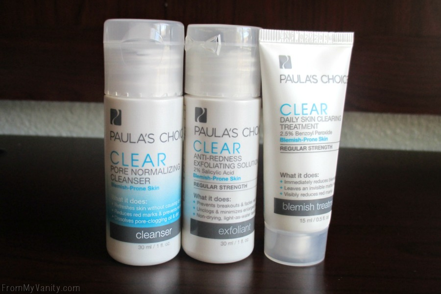 Paula's Choice trial size samples gives you 2 weeks worth of product and a way to test out a new skincare before spending the money on a full size!