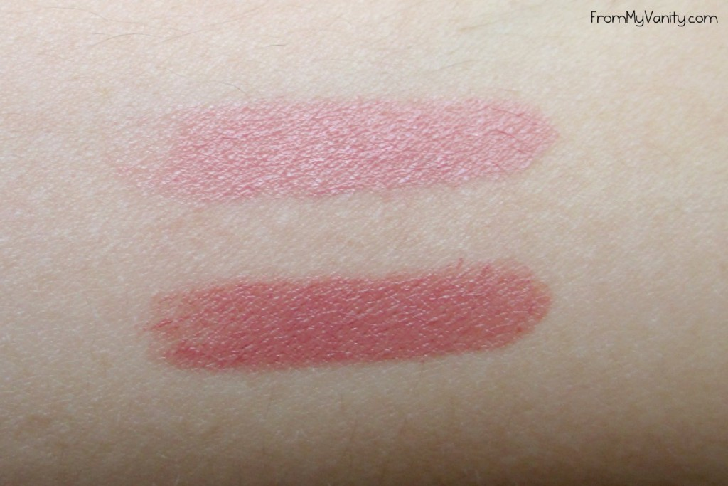 Bite Beauty Luminous Creme Lipstick Duo | Swatches of the colors Lynch and Musk
