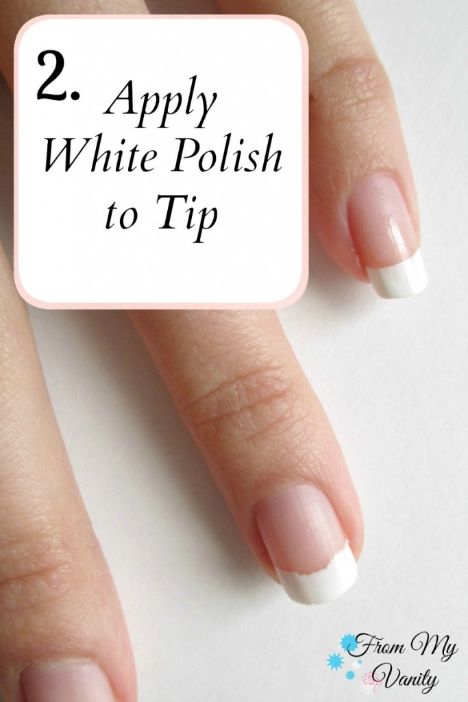 Easy DIY French Manicure at Home // Nail Tutorial // Step 2 // FromMyVanity.com