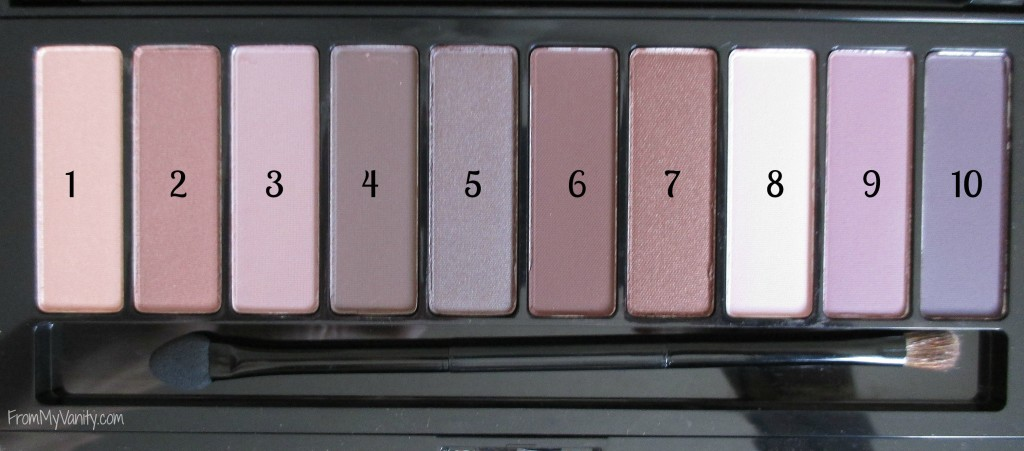 loreal-la-palette-nude-two-review-shadows