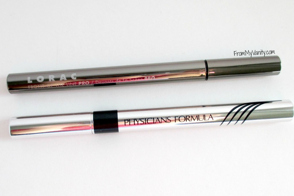 Dupe or Dud // Lorac VS Physicians Formula Liquid Eyeliners // Comparison // From My Vanity