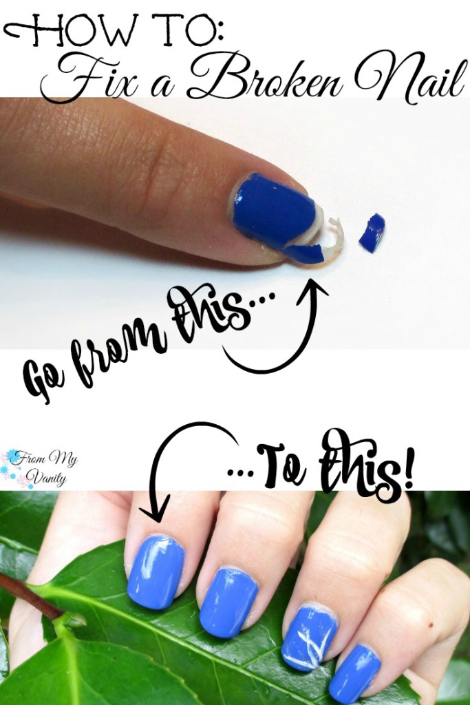How to Fix a Broken Nail // Pin it Now, Read Later! // FromMyVanity.com