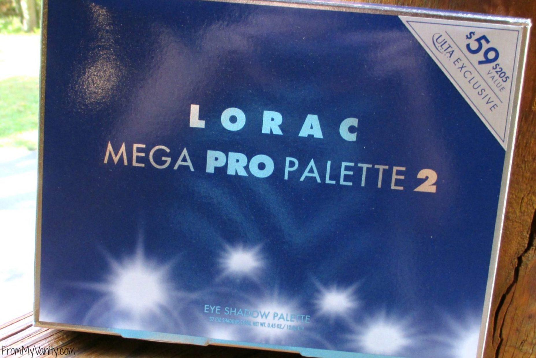 LORAC Mega Pro 2 Eyeshadow Palette // Review, Swatches, & Eye Looks // Packaging // #LORACCosmetics #MegaPro2 FromMyVanity.com