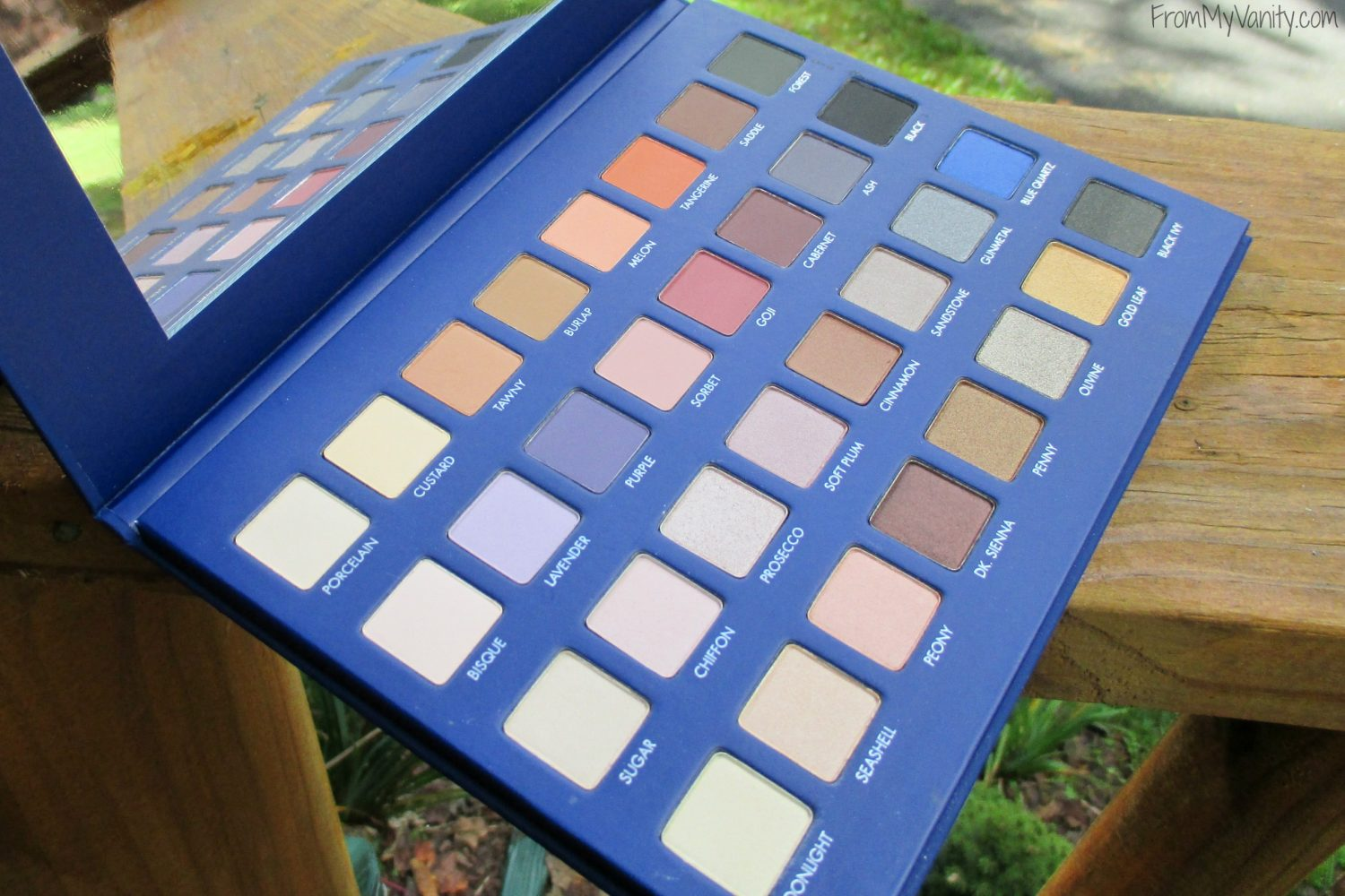 LORAC Mega Pro 2 Eyeshadow Palette // Review, Swatches, & Eye Looks // Opened Palette // #LORACCosmetics #MegaPro2 FromMyVanity.com