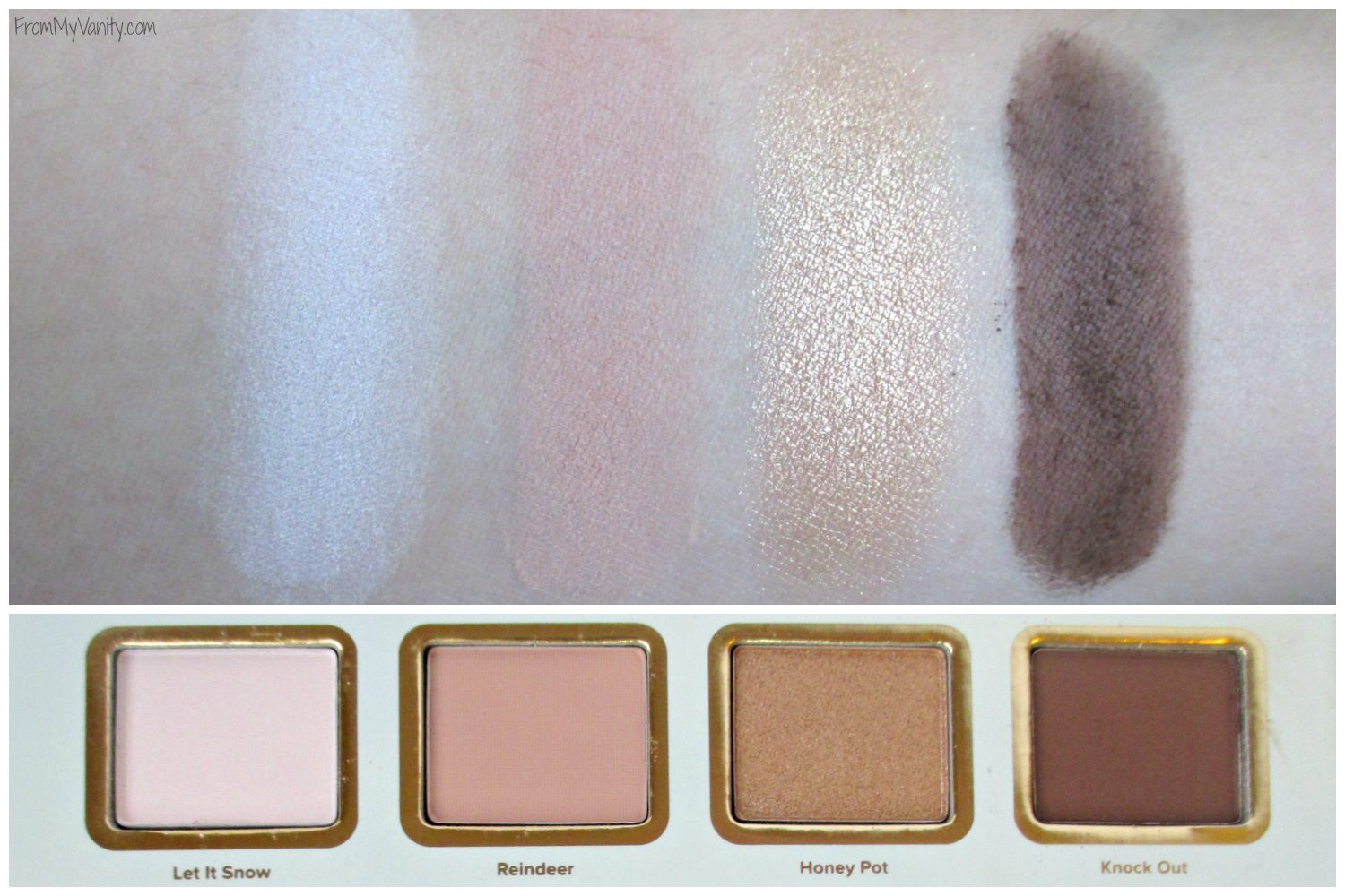 Too Faced La Petite Maison // Holiday Set // Review & Swatches // Swatches of First Row // #UltaBeauty #TooFaced FromMyVanity.com