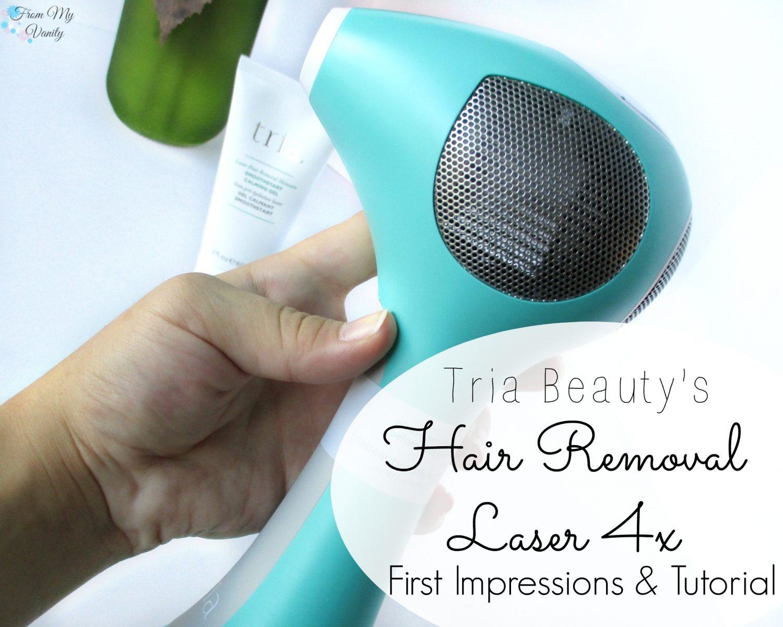 Tria U0026 39 S Hair Removal Laser 4x - First Impressions  U0026 Step-by-step Tutorial