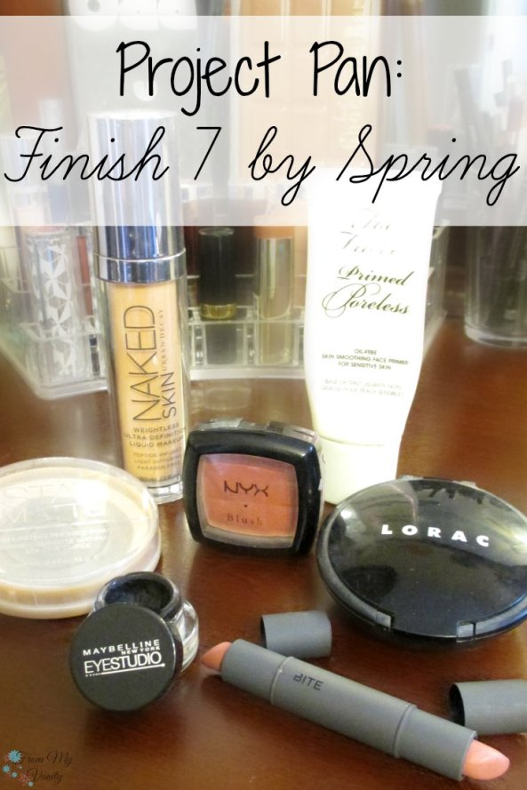 "See what products I'm trying to finish up for the ""Project Pan: Finish 7 by Spring"" challenge! #Panning #ProjectPan FromMyVanity.com"