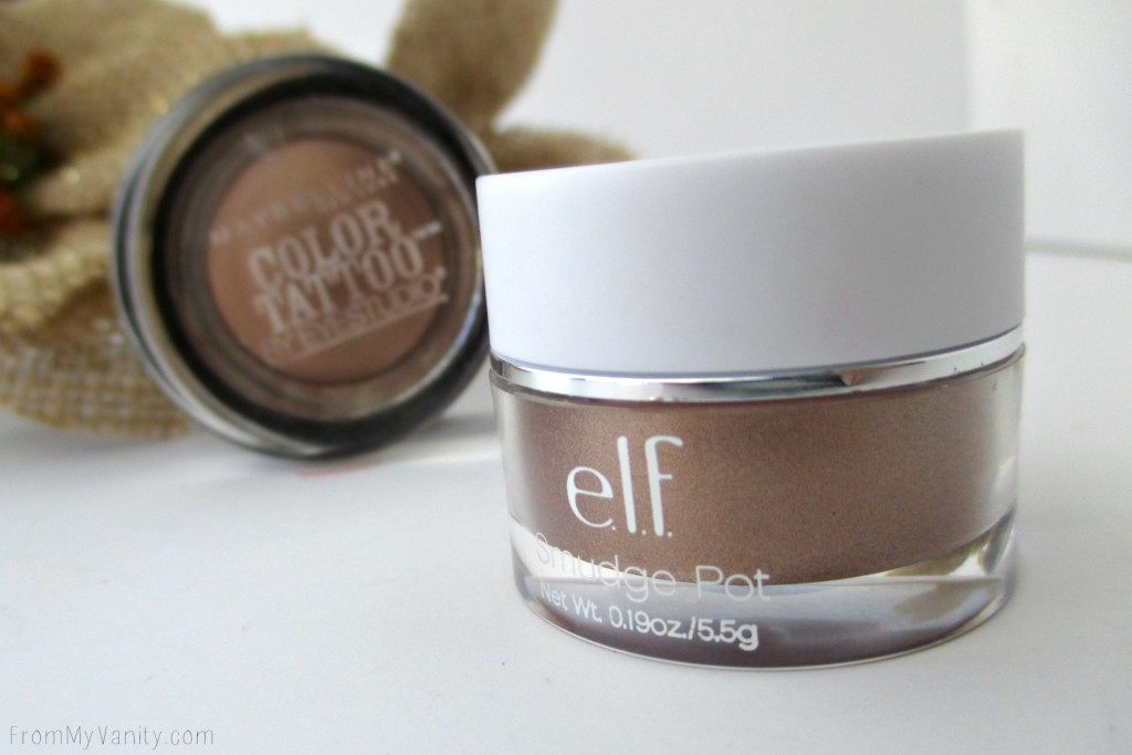Dupe or Dud // Maybelline Color Tattoo vs ELF Smudge Pot // Bad to the Bronze // Cruisin Chic // ELF Close Up // FromMyVanity.com