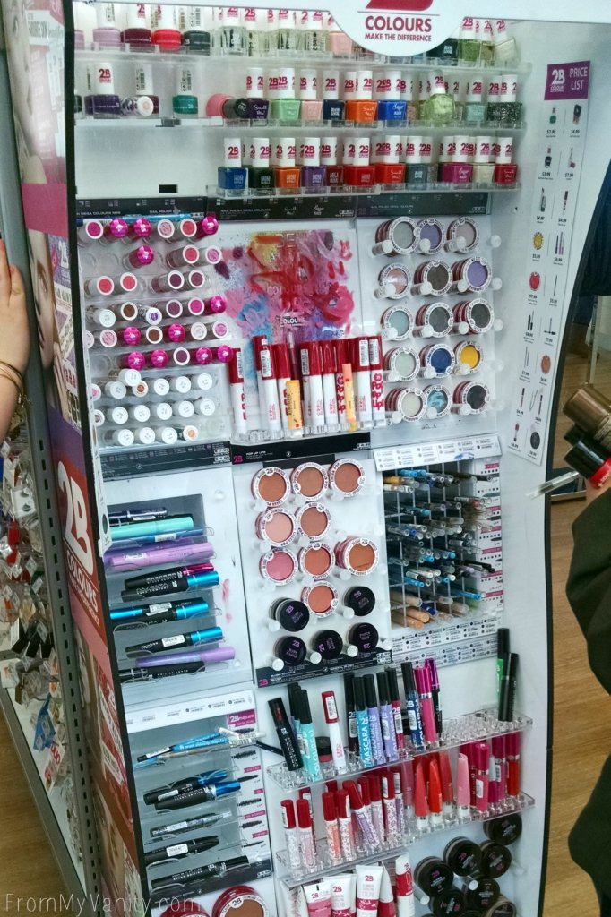 2B Colours // I found their makeup display at Ulta!