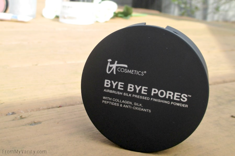 Pores, be gone with this Bye Bye Pores pressed powder!   IT Cosmetics QVC TSV, IT's Your Bye Bye Collection