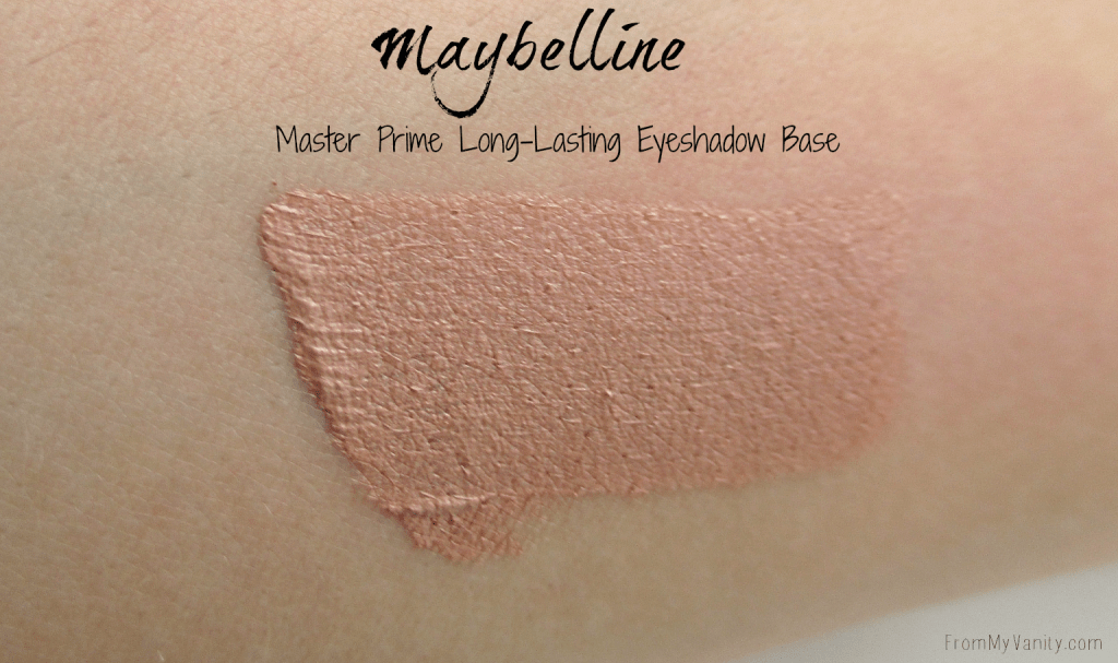 New Products from Milani, NYX Cosmetics, and Maybelline // Master Prime Eyeshadow Base Swatch // #Milani #Maybelline #NYXCosmetics // FromMyVanity.com @LadyKaty92