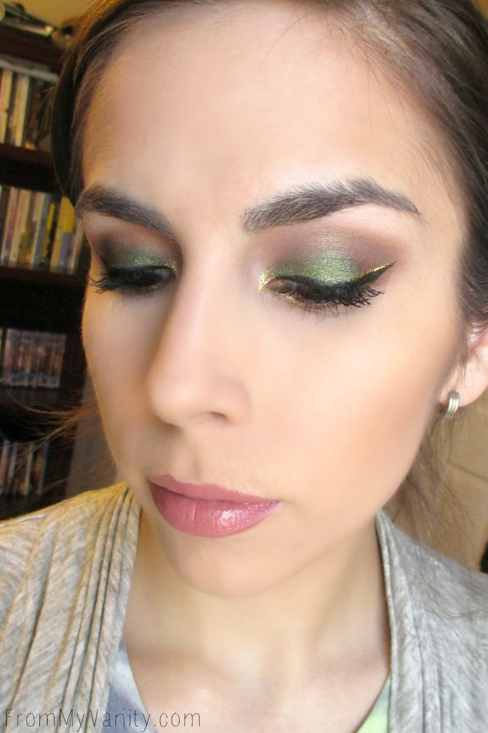 A close up shot of a fun and festive Saint Patrick's Day makeup look!