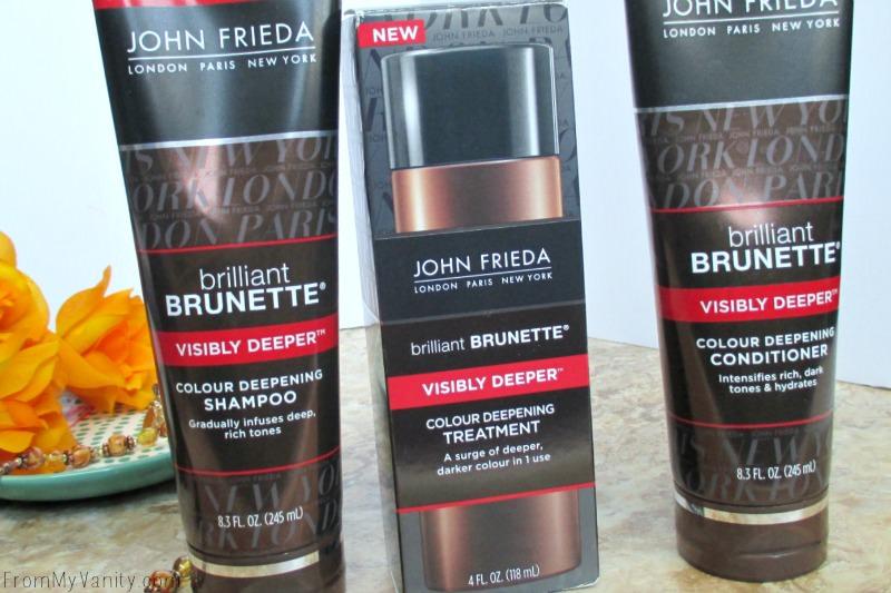 John Frieda Brilliant Brunette® Visibly Deeper™ Colour Deepening Trio