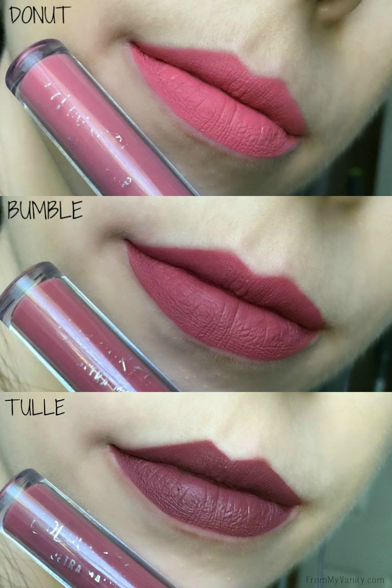 Lip swatches of the ColourPop Ultra Matte Lip formula!