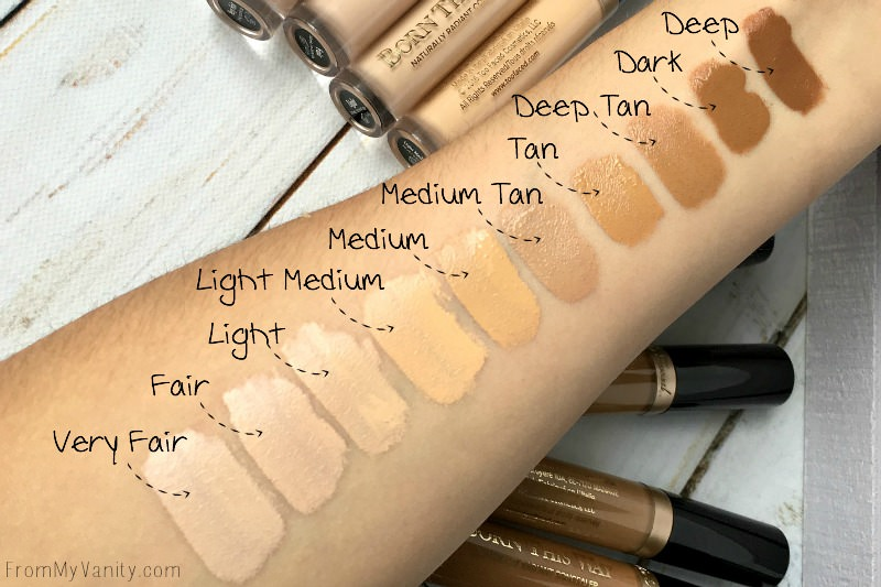too faced born this way concealer review swatches from my vanity