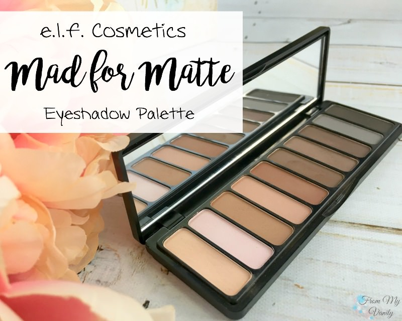 ELF Cosmetics Mad for Matte Eyeshadow Palette -- Great review, with swatches!