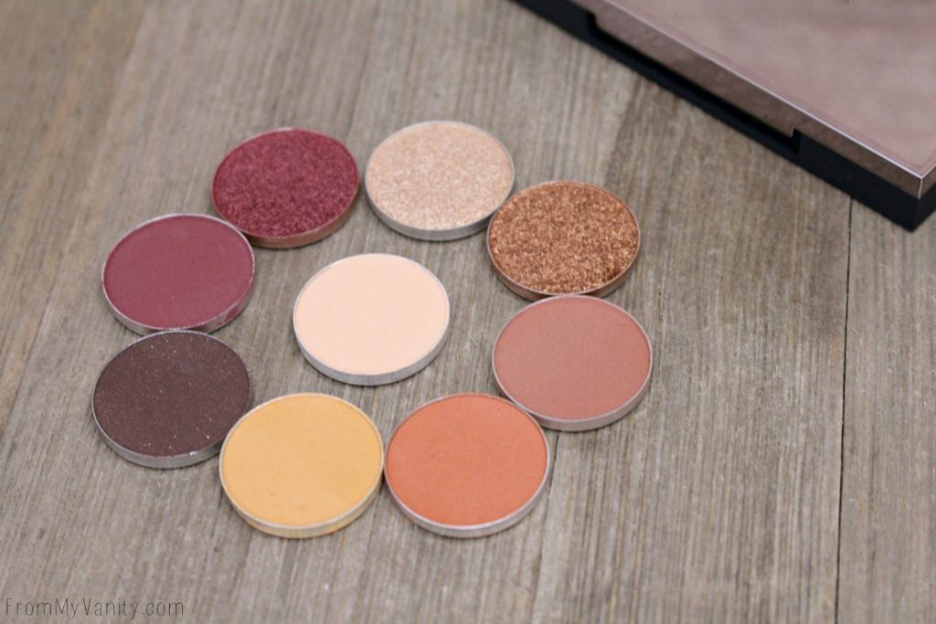 All eyeshadows are from Makeup Geek's Autumn Glow bundle!
