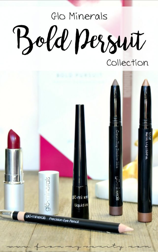 Get Your Classic Holiday Makeup using the Glo Minerals Bold Pursuit 5 Piece Collection