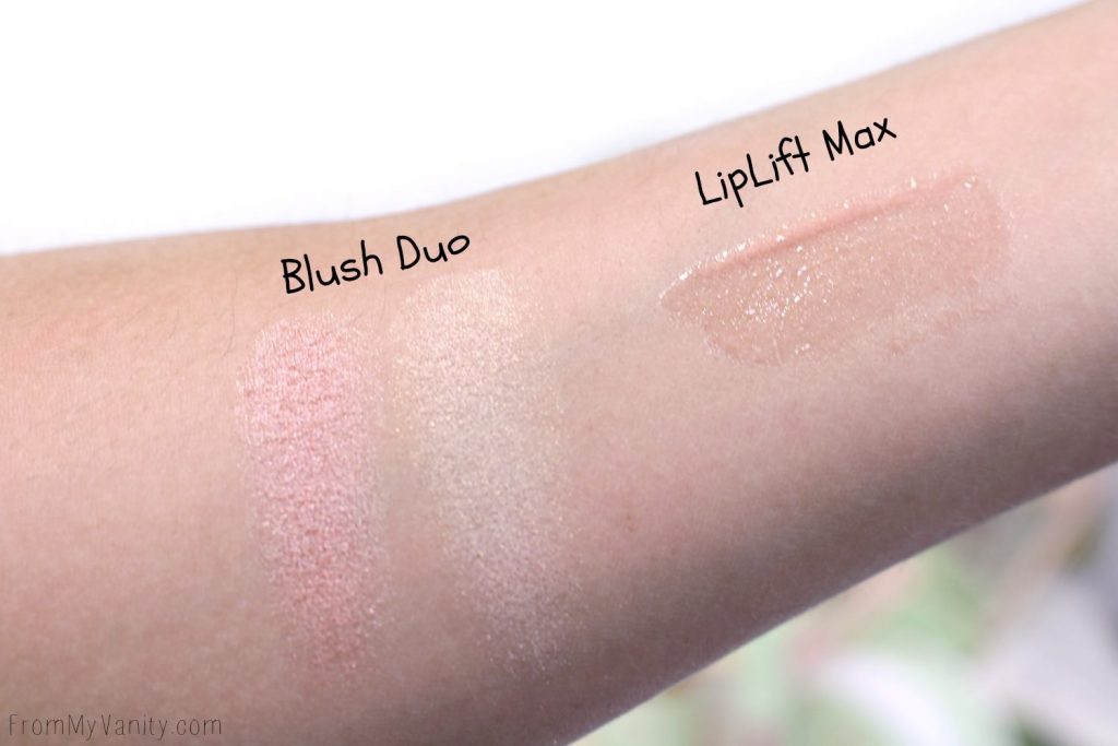 Pixi by Petra Swatches of Blush and Lipgloss