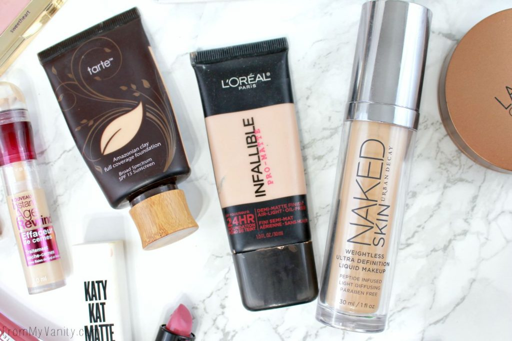 Tarte Amazonian Clay Foundation | L'Oreal Infallible Pro-Matte Foundation | Urban Decay Naked Skin Foundation | Best of Beauty