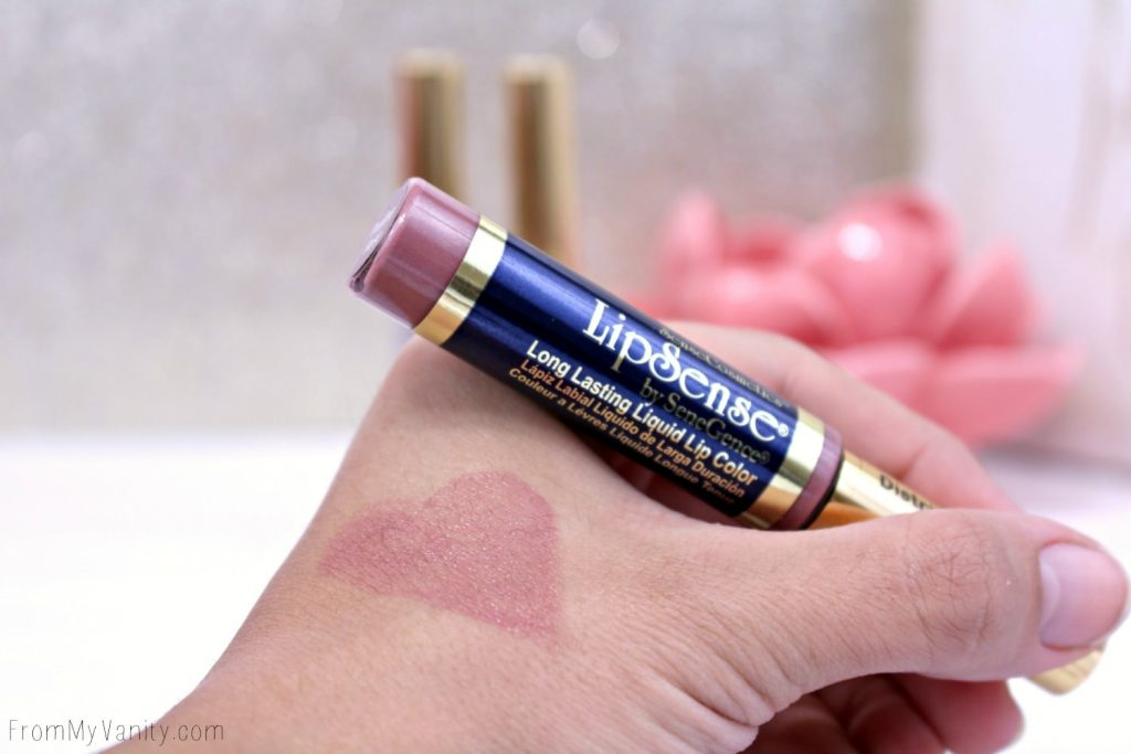 Swatch of LipSense lip color in Praline Rose
