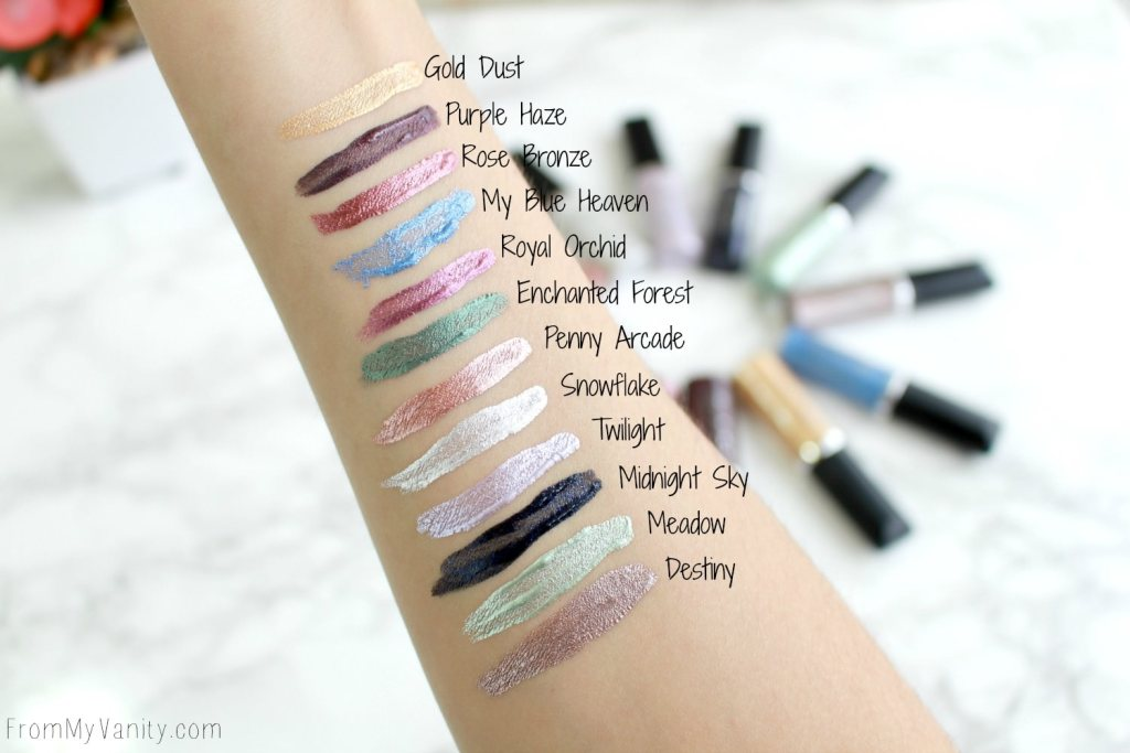 Jesse's Girl Cosmetics | Hits & Misses | Fluid Shadow Swatches
