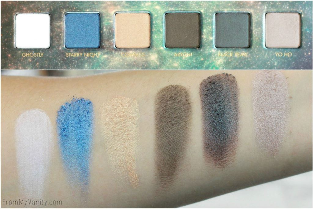 LORAC + Pirates of the Caribbean Collection | Review, Swatches, and Demo | Eyeshadow Palette | Swatches of First Row