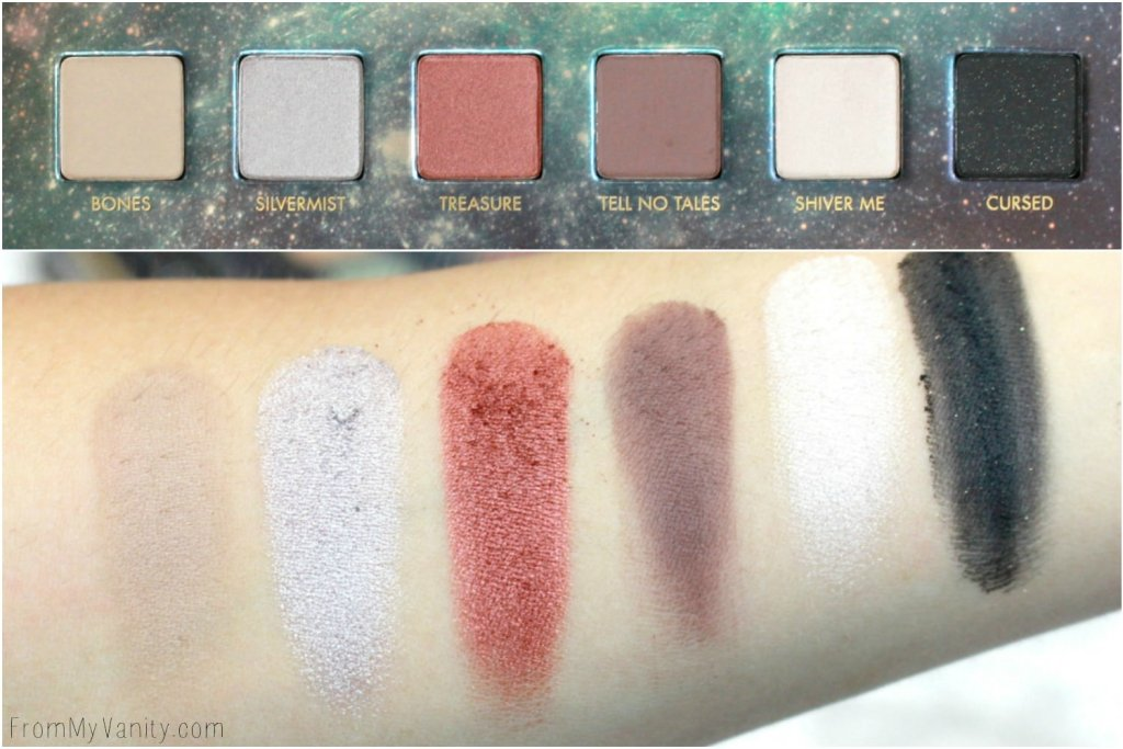LORAC + Pirates of the Caribbean Collection   Review, Swatches, and Demo   LMITED EDITION   Swatches of Second Row