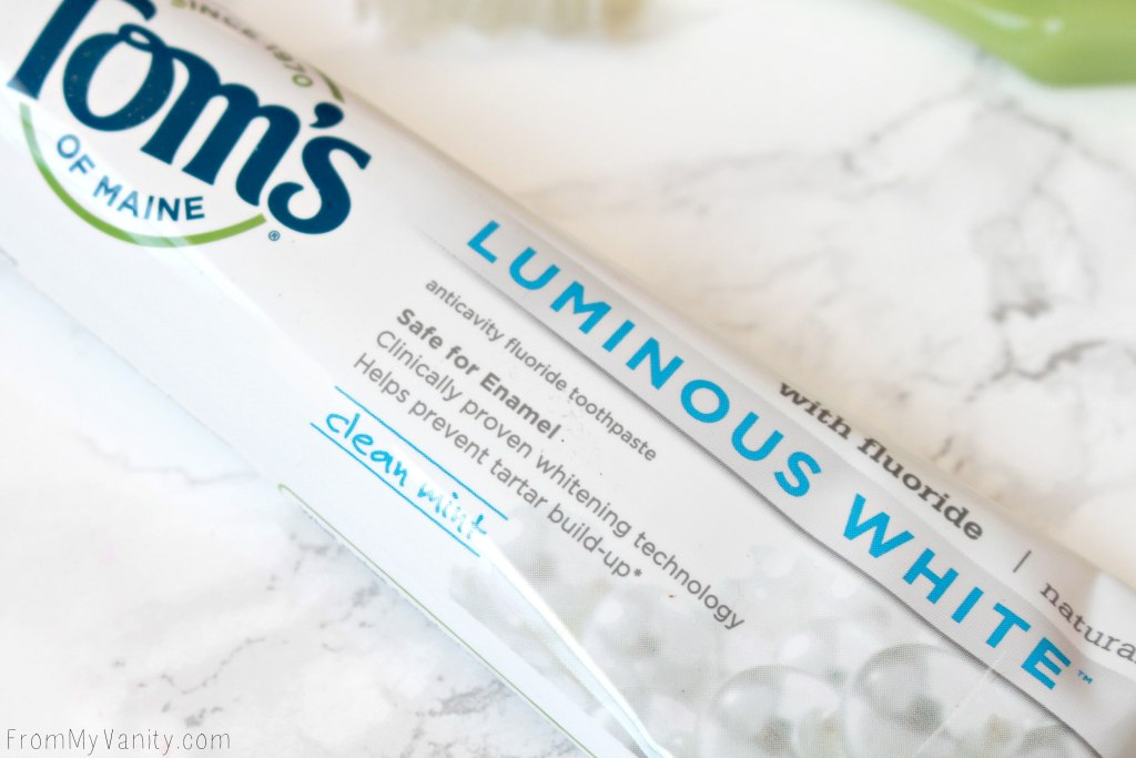 Achieving Whiter Teeth Naturally with Tom's of Maine Luminous White whitening toothpaste