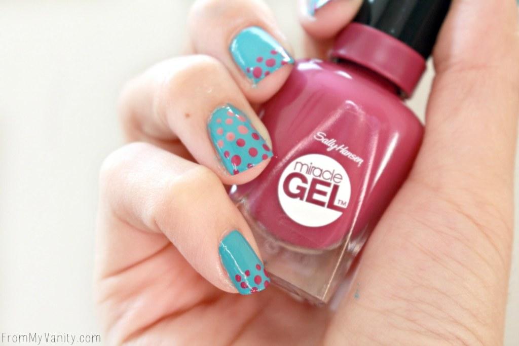 Easy Dotticure Nail Art | Tutorial | Sally Hansen Miracle Gel | Step-By-Step