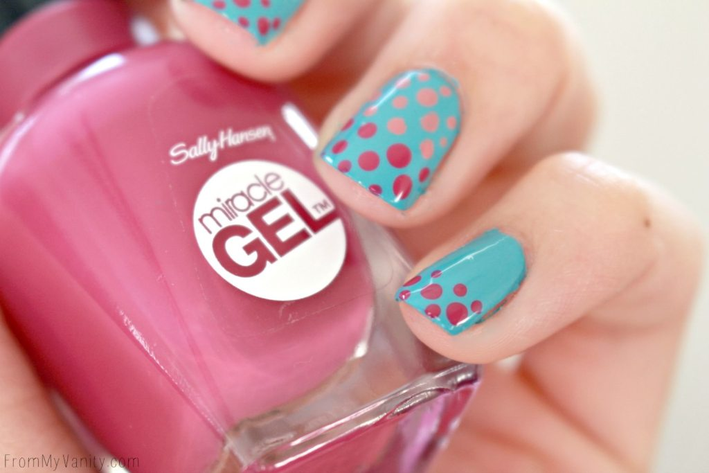 Easy Dotticure Nail Art | Tutorial | Sally Hansen Miracle Gel