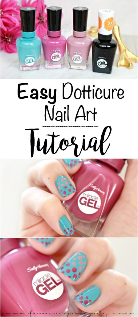 Easy Dotticure Nail Art | Tutorial | Sally Hansen Miracle Gel | Step-By-Step Tutorial