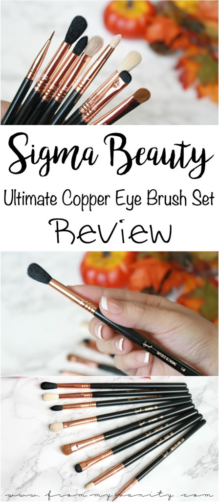 Sigma Beauty Ultimate Copper Eye Brush Set | Individual Brush Reviews & Tutorial Demo
