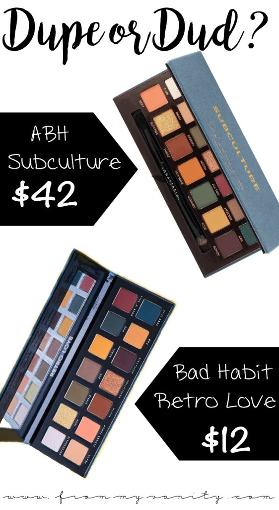 Dupe or Dud | ABH Subculture Palette vs Bad Habit Retro Love Palette | Eye Look Comparison Included | Anastasia Beverly Hills Subculture | Bad Habit Retro Love (Available on Shop Hush) | ShopHush Haul | Battle of the Palettes