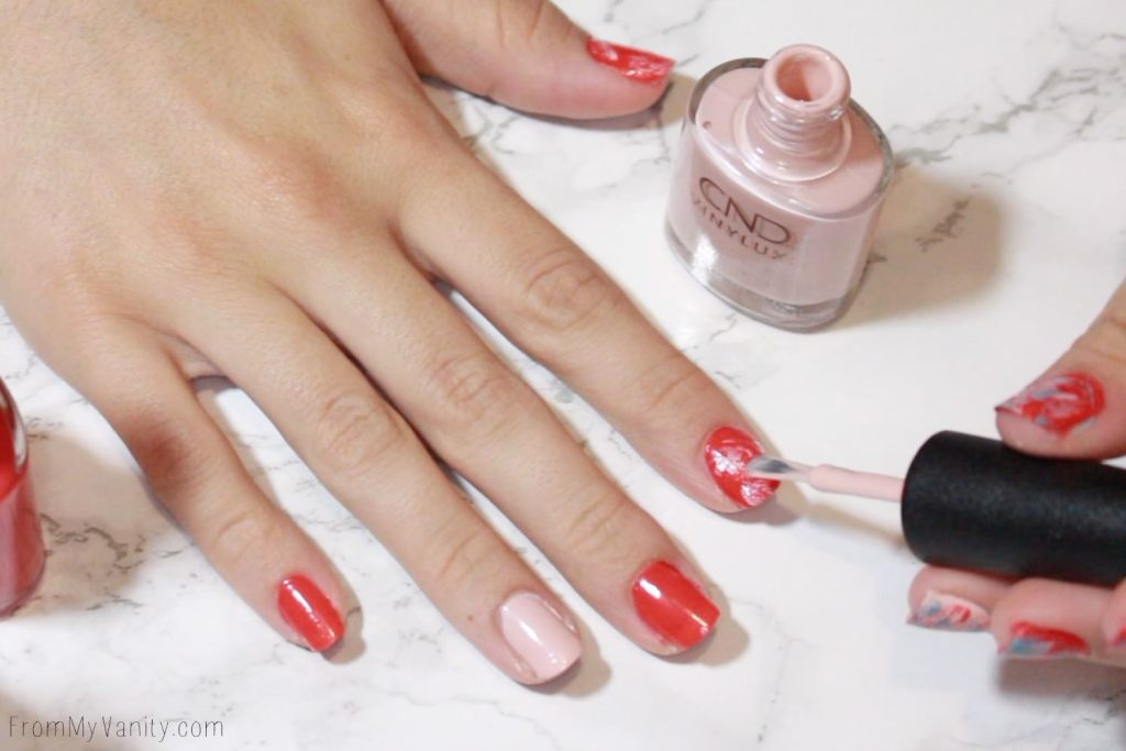 Easy Summer Nail Art with CND VINYLUX | Tutorial | Step 4 | First Color
