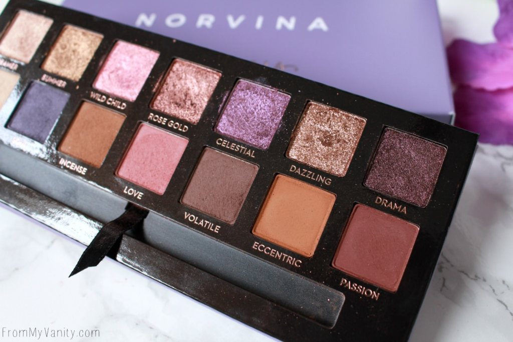 ABH Norvina Palette | Review, Swatches, + Tutorial | Anastasia Beverly Hills Norvina Palette | Close Up of Deep Shades
