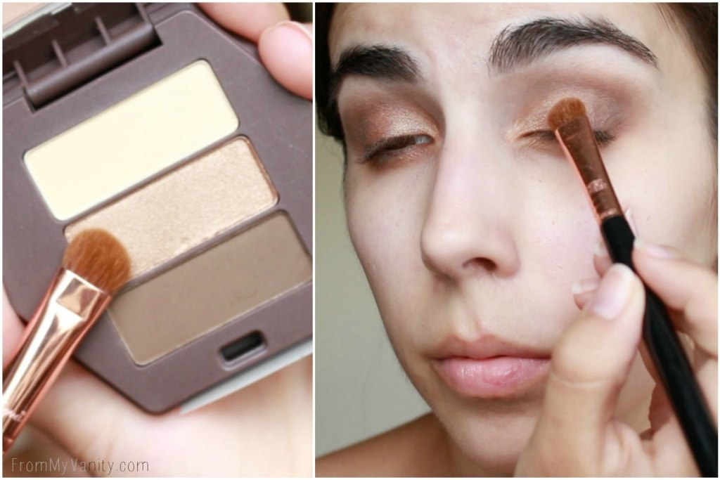 Back to College Makeup Routine with Burt's Bees | Eyeshadow Trio | Step 3