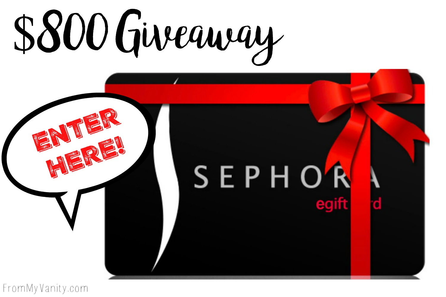 photograph about Sephora Printable Gift Card known as $800 Sephora Giftcard Giveaway! - Versus My Self-importance