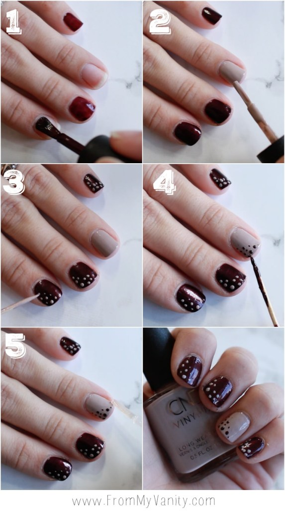 Fall Nail Art Tutorial for Short Nails with CND VinyLux - From My Vanity