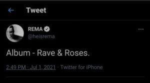 """Rema announces debut album title """"Rave & Roses"""""""