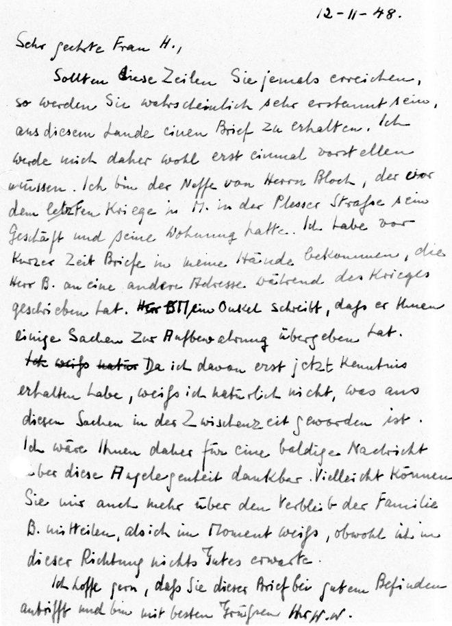Letter, 12th November, 1948