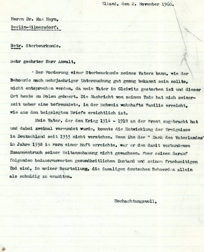 Letter: 2nd November 1962