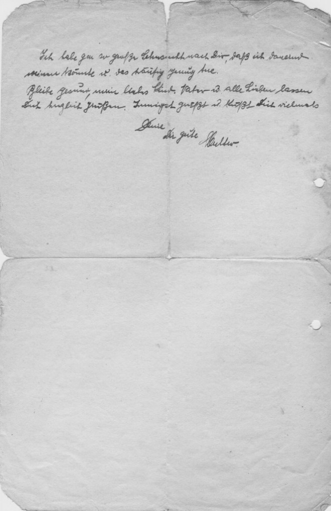 Gleiwitz, 22nd August 1940: side 2 From Else