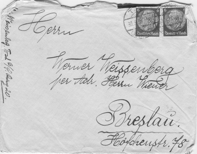 Breslau envelope address