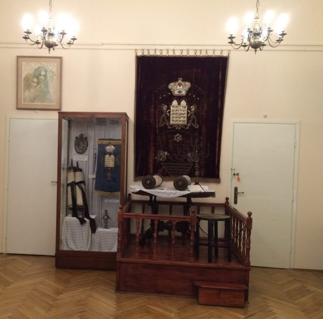 Jewish artefacts room at Chrzanow museum