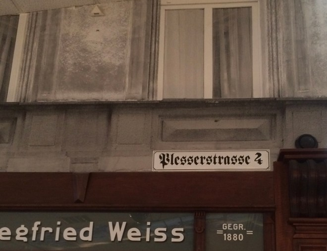 Plesserstrasse sign