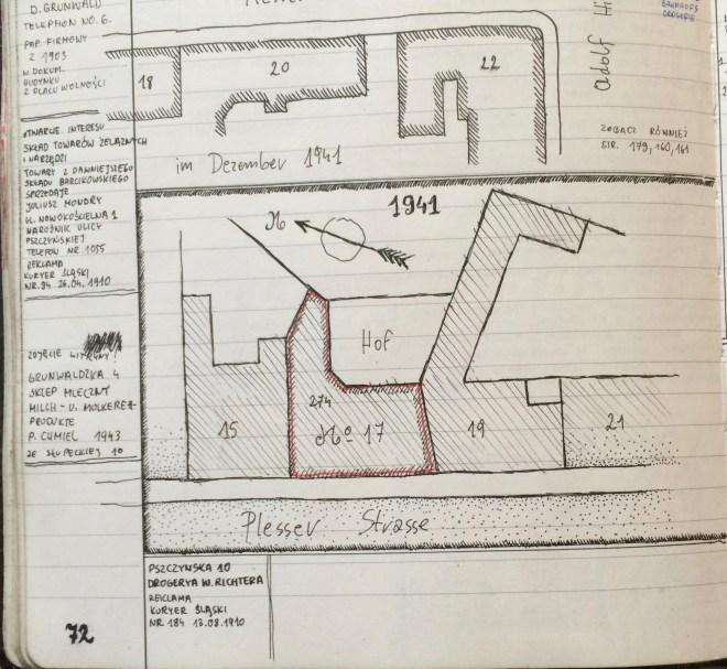 Plesserstrasse 17, Myslowice Source: archivist in Myslowice