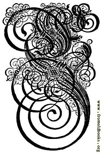 German Gothic Initials Swirly Fraktur Blackletter