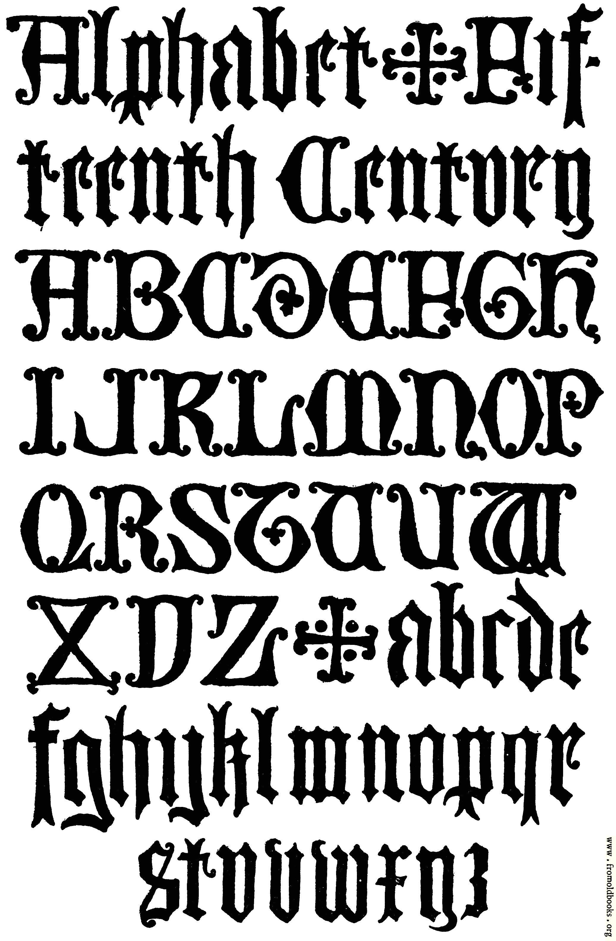 178 English Gothic Letters 15th Century F C B