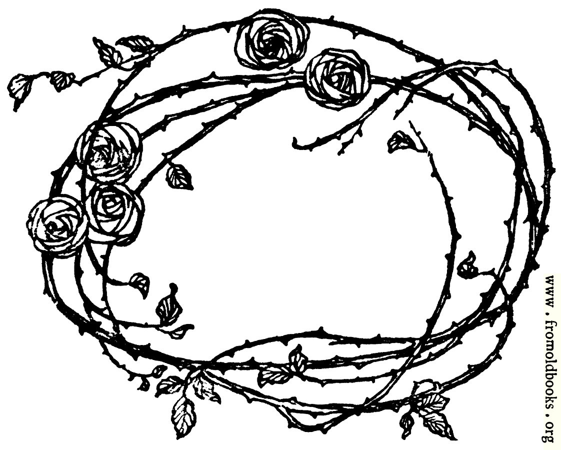 Border Of Roses And Thorns
